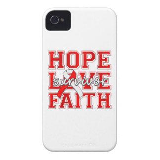 Aplastic Anemia Hope Love Faith Survivor iPhone 4 Case-Mate Case