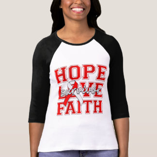 Aplastic Anemia Hope Love Faith Survivor Tee Shirt