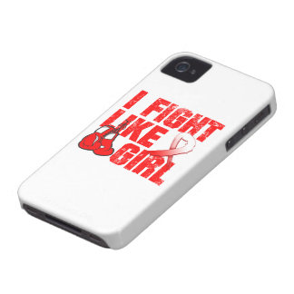 Aplastic Anemia I Fight Like A Girl (Grunge) Case-Mate iPhone 4 Cases