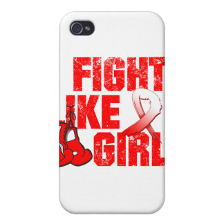 Aplastic Anemia I Fight Like A Girl (Grunge) Cover For iPhone 4