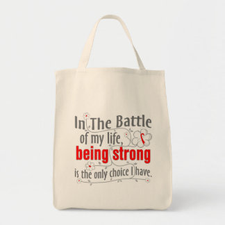 Aplastic Anemia In The Battle Grocery Tote Bag
