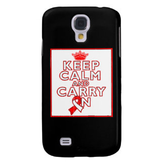 Aplastic Anemia Keep Calm and Carry On Samsung Galaxy S4 Case