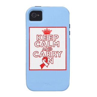 Aplastic Anemia Keep Calm and Carry On iPhone 4 Case