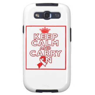 Aplastic Anemia Keep Calm and Carry On Galaxy SIII Cases