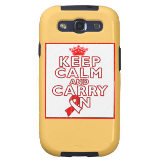 Aplastic Anemia Keep Calm and Carry On Samsung Galaxy SIII Covers