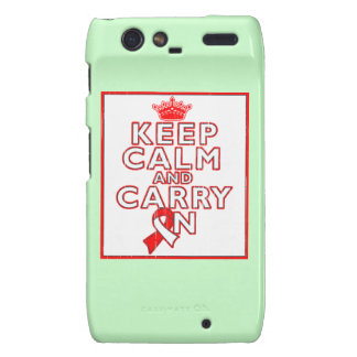 Aplastic Anemia Keep Calm and Carry On Droid RAZR Cases