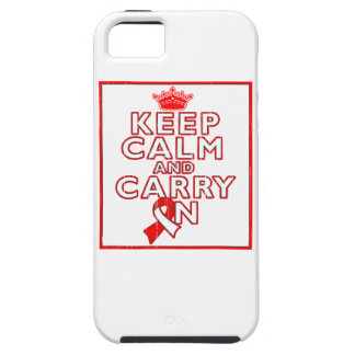 Aplastic Anemia Keep Calm and Carry On iPhone 5 Case