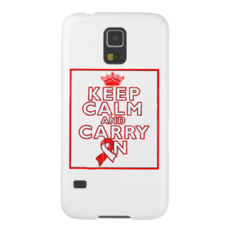 Aplastic Anemia Keep Calm and Carry On Galaxy S5 Cover