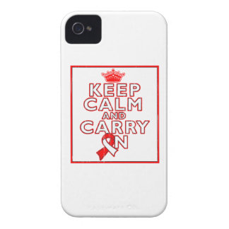 Aplastic Anemia Keep Calm and Carry On iPhone 4 Cover