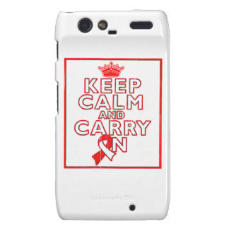 Aplastic Anemia Keep Calm and Carry On Droid RAZR Case
