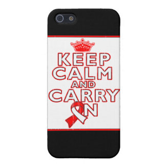 Aplastic Anemia Keep Calm and Carry On iPhone 5 Cover
