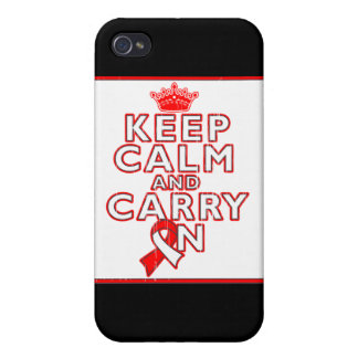 Aplastic Anemia Keep Calm and Carry On Covers For iPhone 4