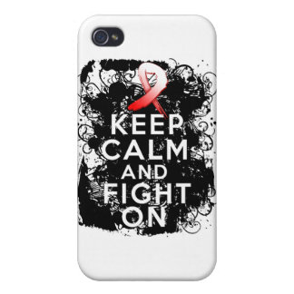 Aplastic Anemia Keep Calm and Fight On Case For iPhone 4