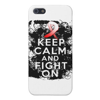 Aplastic Anemia Keep Calm and Fight On Case For iPhone 5