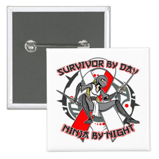 Aplastic Anemia Survivor By Day Ninja By Night Pinback Button