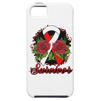 Aplastic Anemia Survivor Rose Grunge Tattoo iPhone 5 Covers