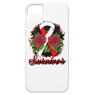 Aplastic Anemia Survivor Rose Grunge Tattoo iPhone 5 Cover