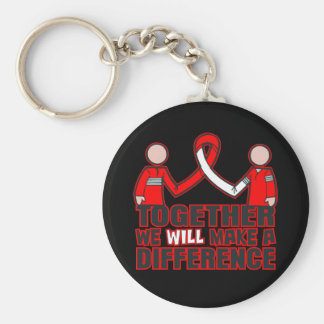 Aplastic Anemia Together We Will Make A Difference Basic Round Button Keychain