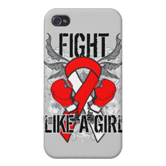 Aplastic Anemia Ultra Fight Like A Girl iPhone 4 Case