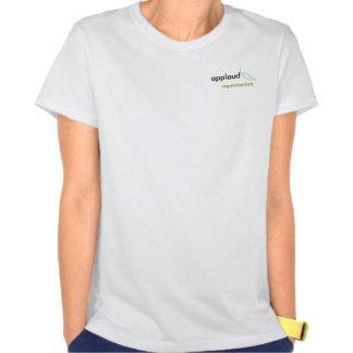Aplauda el pequeño tanque del logotipo del camisetas