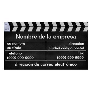 aplaude EL cine Tarjetas De Visita