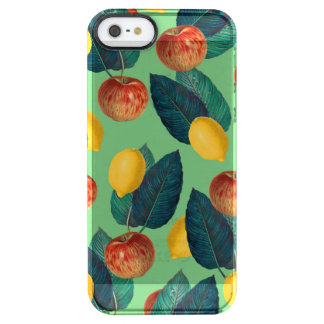 aples and lemons green clear iPhone SE/5/5s case