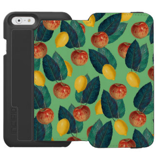 aples and lemons green iPhone 6/6s wallet case