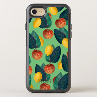 aples and lemons green OtterBox symmetry iPhone 8/7 case