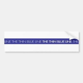Aplicación de ley… Blue Line fino Pegatina Para Auto