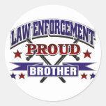 Aplicación de ley Brother orgulloso Etiqueta Redonda