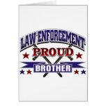 Aplicación de ley Brother orgulloso Tarjetas