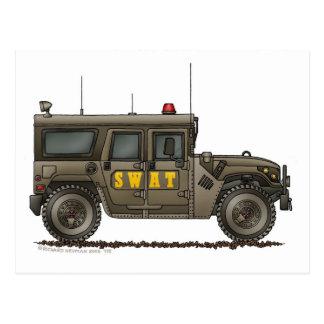 Aplicación de ley de Hummer del equipo de GOLPE Postales