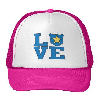 Aplicación de ley del amor gorras de camionero
