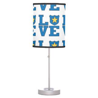 Aplicación de ley del amor lámpara de mesilla de noche