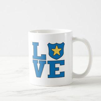 Aplicación de ley del amor taza de café