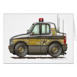 Aplicación de ley del coche patrulla del coche del tarjetón