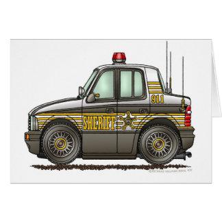 Aplicación de ley del coche patrulla del coche del tarjeta de felicitación