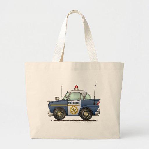 Aplicación de ley del coche policía bolsa lienzo