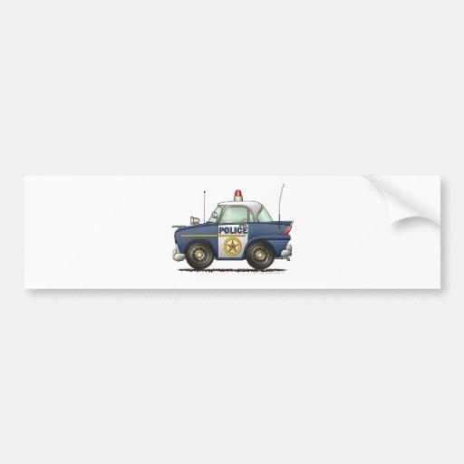 Aplicación de ley del coche policía pegatina de parachoque