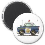 Aplicación de ley del coche policía imán de frigorifico