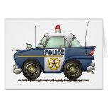 Aplicación de ley del coche policía tarjeton