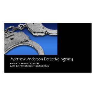 Aplicación de ley del investigador privado plantilla de tarjeta personal
