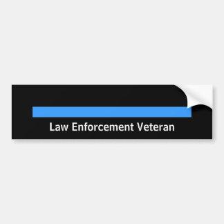 Aplicación de ley jubilada del sheriff de la polic etiqueta de parachoque