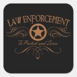Aplicación de ley occidental colcomanias cuadradas personalizadas