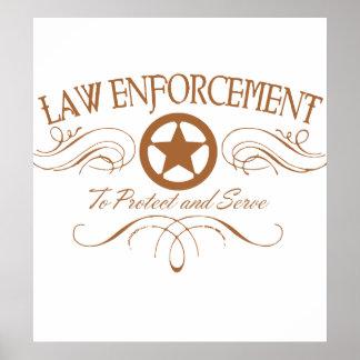 Aplicación de ley occidental póster
