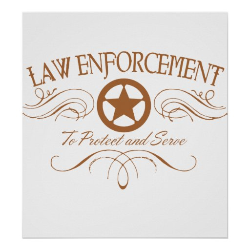 Aplicación de ley occidental poster