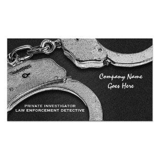 Aplicación del detective de la ley del investigado tarjeta personal