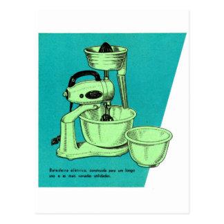 Aplicación del vintage del kitsch mezclador del EL Tarjeta Postal