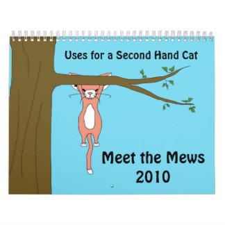 Aplicaciones para un gato de la segunda mano calendario de pared