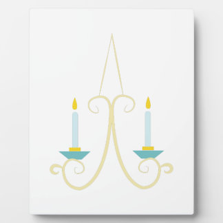 Aplique de la vela placas de madera